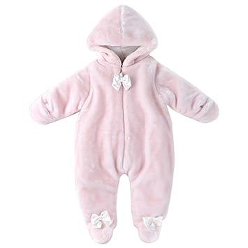 b2c07cac022d BOZEVON Newborn Baby Girls   Boys Fall Winter Plush Snowsuit Romper Infant  Faux Fur Cute Animal Hooded Unisex Jumpsuits Outfit Warm Bodysuit