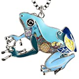 Luckeyui Unique Large Frog Necklace Pendant for Women Girls
