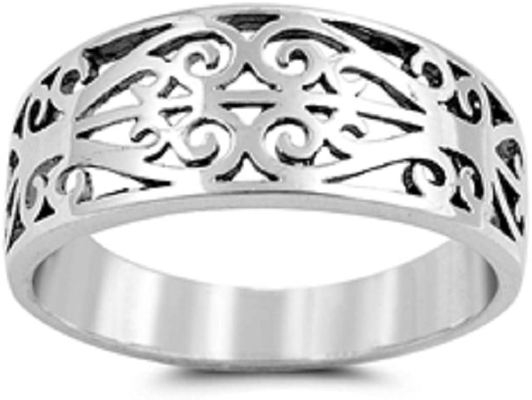 Princess Kylie 925 Sterling Silver Filigree Design Ring