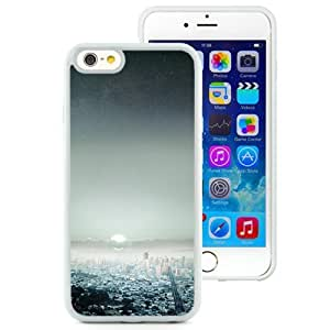 NEW Unique Custom Designed iPhone 6 4.7 Inch TPU Phone Case With Starry Night Sky Big City_White Phone Case