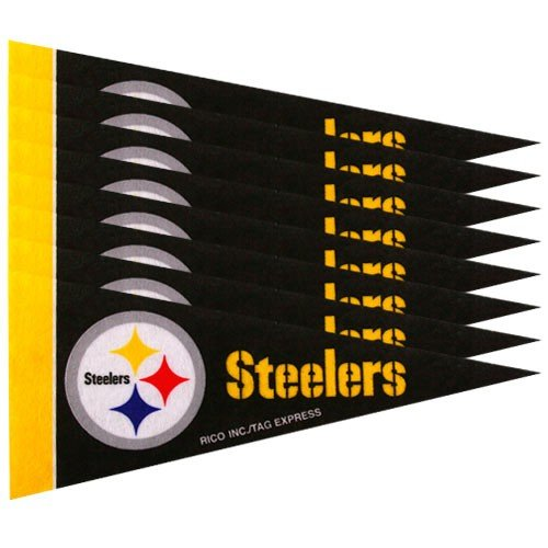 Pittsburgh Steelers 8 Piece Mini Pennant - Pennant Steelers Pittsburgh