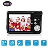 Mini Digital Camera with 2.7 Inch TFT LCD Display, Digital Video Cameras Students Cameras (Black)- Sports, Travel, Indoor, Outdoor, Camping, Kids,Birthday Gift