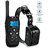 Mothca Dog Training Collar with Remote 1800ft [2018 Upgraded Version] Waterproof Rechargeable with Beep/Vibration/Electric Shock Modes for Small Medium Large Dogs-No Problem with Swimming/Shower