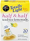 4C Totally Light Tea 2 Go Half & Half, Iced Tea Lemonade, 0 Calories, 24-Count (Pack of 3)