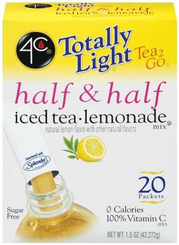 - 4C Totally Light Tea 2 Go Half & Half, Iced Tea Lemonade, 0 Calories, 24-Count (Pack of 3)