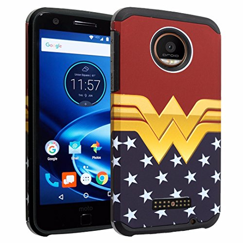 Price comparison product image Moto Z PLAY Case, Moto Z PLAY Droid Case, DURARMOR [Drop Protection] Dual Layers Hybrid ShockProof Slim Fit Armor Case Cover for Motorola Moto Z PLAY / Z PLAY Droid - Wonder Woman