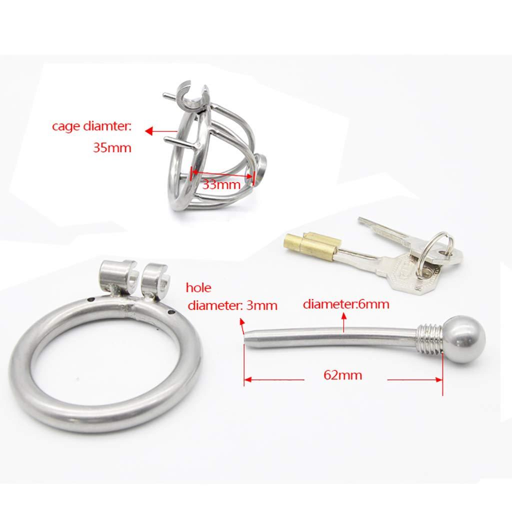 Cinturones de castidad Dispositivo de castidad para el bloqueo bloqueo bloqueo del pene Catéter de silicona del fetiche de la esclavitud del bloqueo 41 (Tamaño : 40mm) 18c3bf