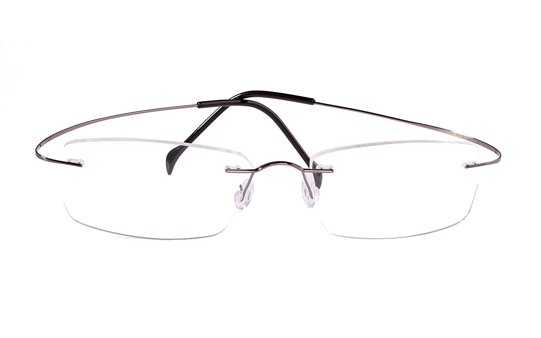 0c414bb2989 Agstum Pure Titanium Rimless Frame Prescription Hingeless Eyeglasses Rx 55)  A-10200 larger image