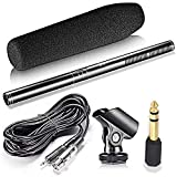 Pro Shotgun Super Uni-Directional Condenser Microphone Kit for Canon Powershot Cameras including G3 x, G5X, G7 X, G7 X MARK II, G9 X, G9 X MARK II& More.
