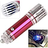 beler Rose Red 12V Universal Mini Auto SUV Car Fresh Air Ionic Purifier Ozone Ionizer Cleaner Oxygen Bar