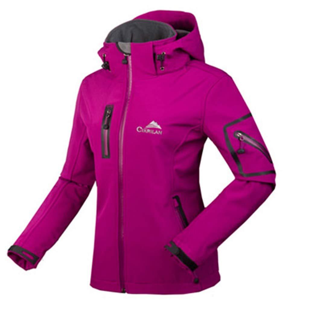 Women's Anorak Jacket Hooded Zipper Warm Jacket Windproof Waterproof Outdoor Jacket Coat Breathable Quick-Drying Softshell Jacket by Hatop-