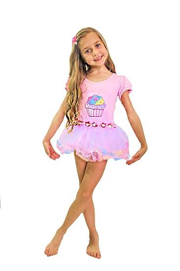 f1bd9310809f Buy Girls Pink Cupcake Tutu Dress Ballet Costume Kids Dance Dress ...