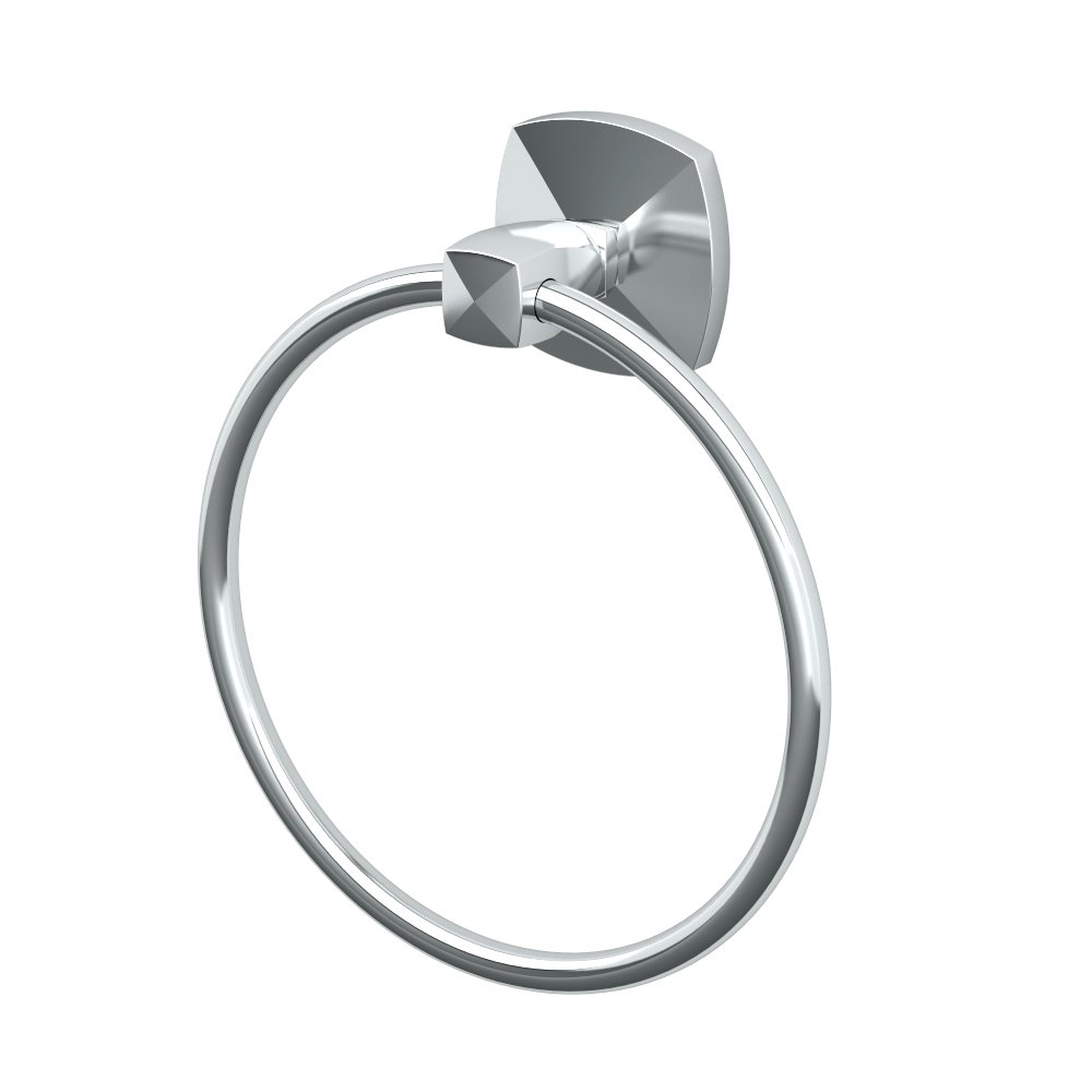 Gatco 4142 Jewel Towel Ring, Chrome