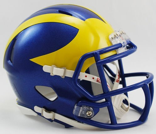 DELAWARE BLUE HENS NCAA Riddell Revolution SPEED Mini Football Helmet (Delaware Football)