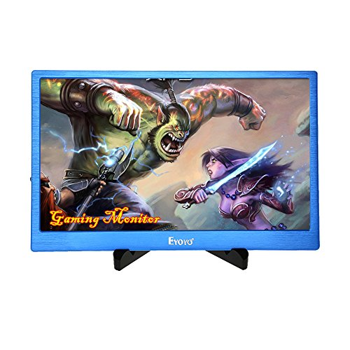 EYOYO 13 Inch 2K IPS Gaming Monitor, 2560x1600 High Resolution with Dual HDMI Input Built-in Speakers For PC Camera PS2 PS3 PS4 Xbox One Xbox360(Blue Color)