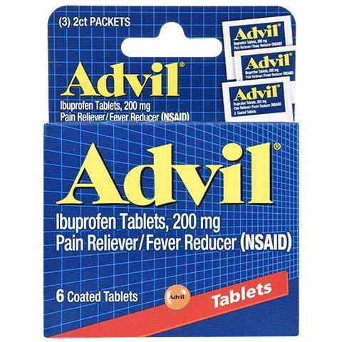 - Advil Tablets, Travel Size - 6-ct. Packs (Set of 2)