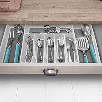 Sorbus Flatware Drawer Organizer, Expandable Cutlery Drawer Trays For Silverware, Serving Utensils, Multi-purpose Storage For Kitchen, Office, Bathroom Supplies (Cutlery Drawer Organizer - White) 2