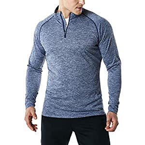 TSLA Men's 1/4 Zip Cool Dry Active Sporty Shirt MKZ02 / MKZ03 21