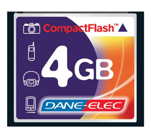 Dane-Elec D70 Digital Camera Memory Card 4GB CompactFlash Memory Card