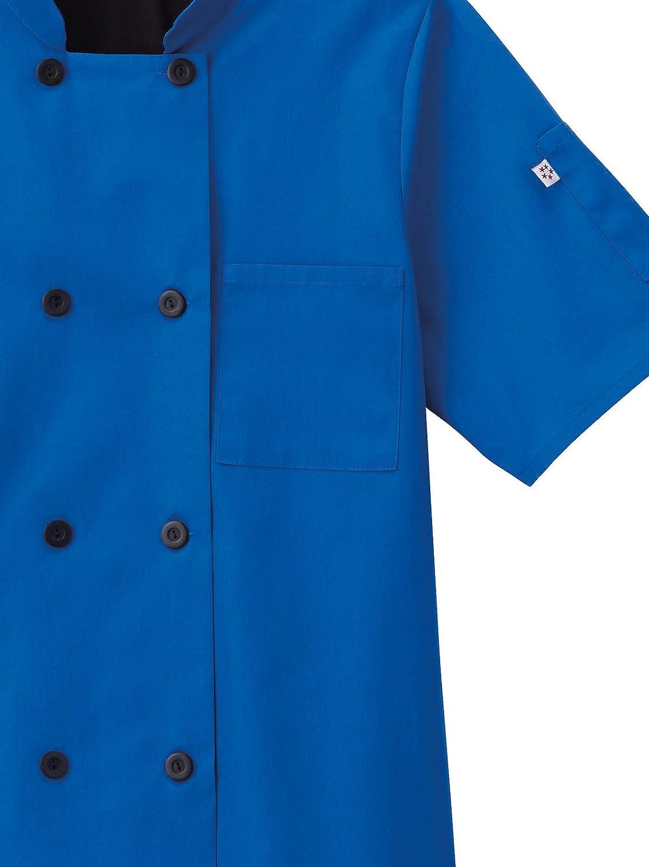Five Star Chef Apparel 18035 Unisex Moisture Wicking Mesh Back Chef Coat Royal 4XL