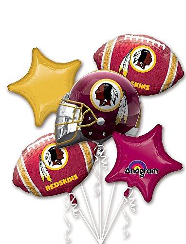 Anagram Bouquet Redskins Foil Balloons, Multicolor -