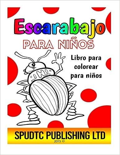 Escarabajo para niños: Libro para colorear para niños: Amazon.es ...