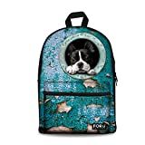 HUGS IDEA Trendy Womens Dog School Book Bag Travel Backpack For Sale