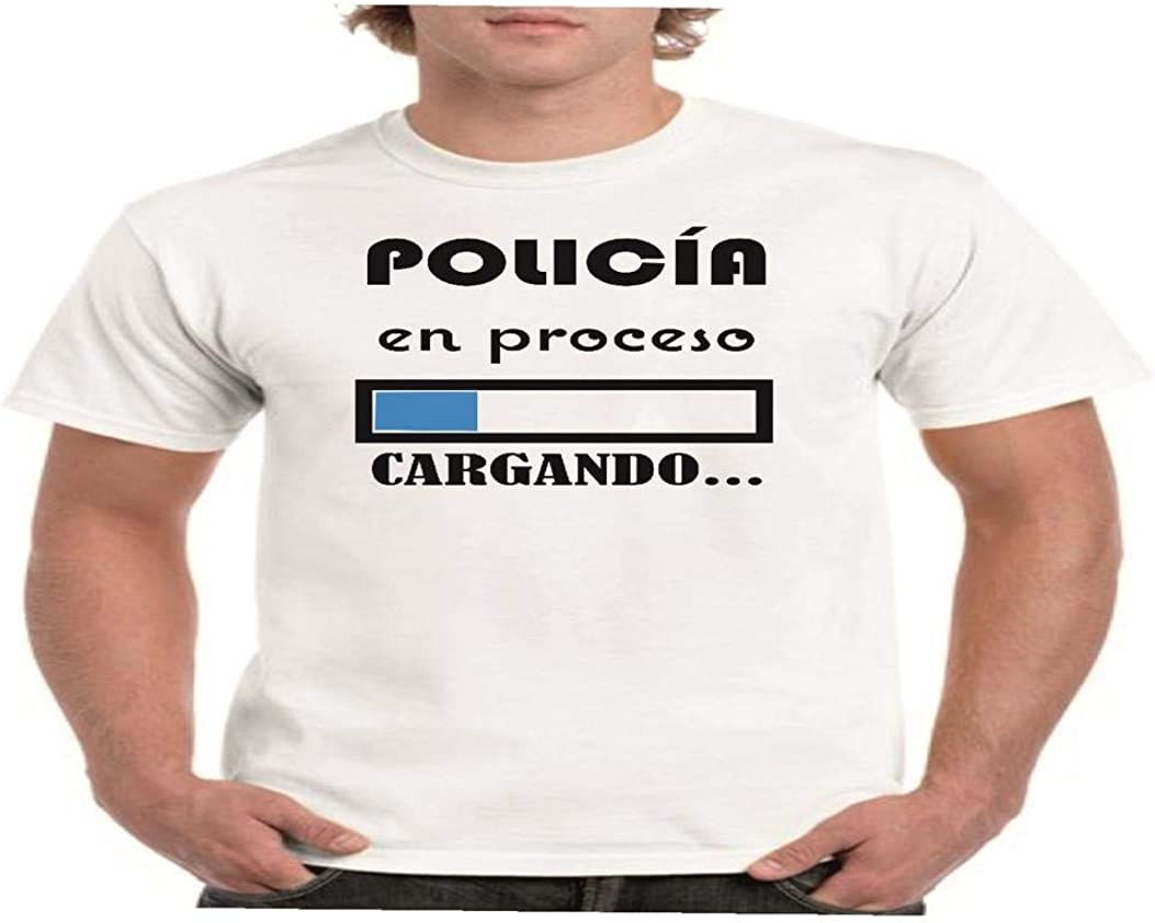 Camisetas divertidas Parent policia en Proceso. Cargando. - para Hombre Camiseta: Amazon.es: Ropa y accesorios