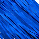 Aspire Fringe Metallic Curtain Backdrops Party Event Decoration 3.3 ft x 9.8 ft-Blue-Pack of 48