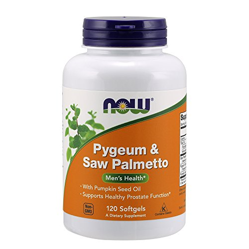NOW Pygeum & Saw Palmetto,120 Softgels