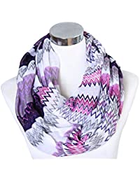 Women Lightweight Cozy Infinity Loop Scarf with Various Artist Print