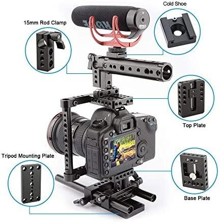 Camvate Camera Cage Rig One Top Grip Tripod Mount Plate Camera Photo
