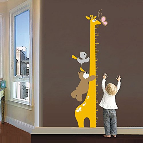 wall decals giraffe chart - 1