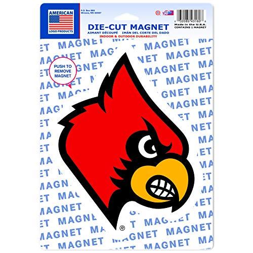 Wincraft NCAA University of Louisville 43160012 Die Cut Logo Magnet, Small, Black