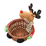 Christmas Candy Storage Basket, ღ Ninasill ღ Exclusive Christmas Decoration Santa Claus Storage Basket Gift (Multicolor C)