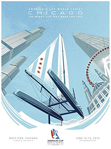 America's Cup 2016 World Series Chicago Limited Edition Commemorative Poster Rare