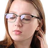 Blue Light Blocking Glasses Women Men Computer Glasses Feirdio Blue Light Glasses 52010 (black/black) … (bright black gun)