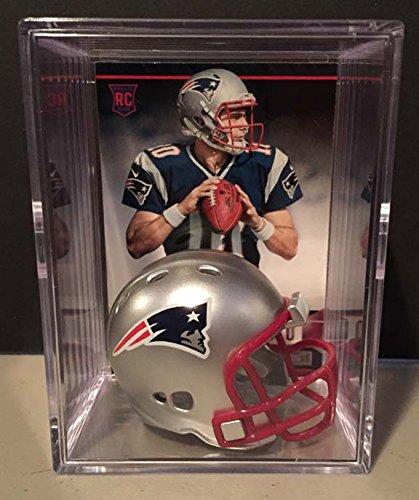 New England Patriots Nfl Draft Helmet Shadowbox W  Jimmy Garoppolo Card