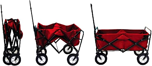 Mac Sports Collapsible Folding Outdoor Utility Wagon - Best Foldable Wheelbarrow