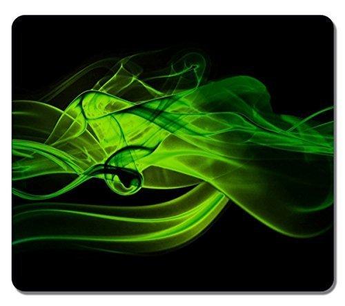 Large Mousepad 14167 Green Smoke Abstract Art Natural Eco Ru