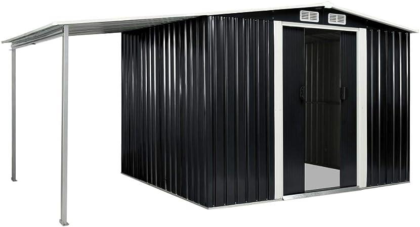 mewmewcat - Cobertizo con Puertas correderas, 386 x 205 x 178 cm, Acero: Amazon.es: Hogar
