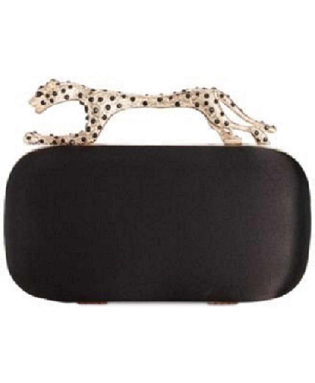 Sasha Handbags Cheetah Clutch Black