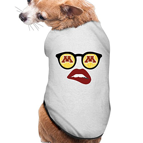[University Of Minnesota Umn Summer Costumes, Clothing, Shirt, Vest, T-shirt, Puppy Pet Dog Cat Fashion 100% Polyester Fiber Tee Gift For Any Animal Fan Lovers Ash] (Gopher Costumes)