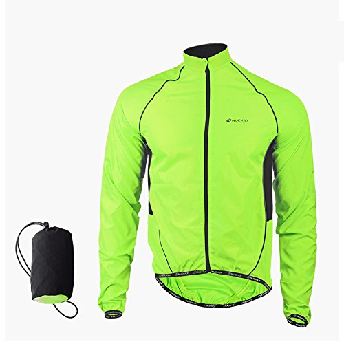 LightInTheBox Cycling Jacket Men's Long Sleeve Bike Waterproof/Windproof/Front Zipper/WearableJacket/Windbreakers/Raincoat/Poncho/(M)