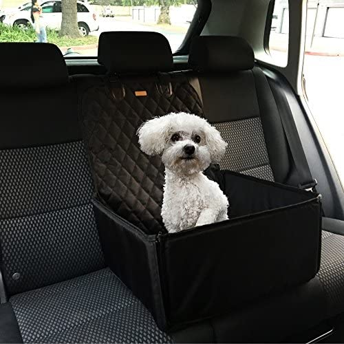 Car Seats Cover for Dogs or Any Pets, 3 in1, Booster Car Seat, Bucket Up or Down, Use for Front and Back Seats, Deluxe 900 Oxford, Quilted Fabric,Waterproof Protector for Car Seats Size 45x45x58