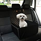 Car Seats Cover for Dogs or Any Pets, 3 in1, Booster Car Seat, Bucket Up or Down, Use for Front and Back Seats, Deluxe 900 Oxford, Quilted Fabric,Waterproof Protector for Car Seats (Size 45x45x58) Review