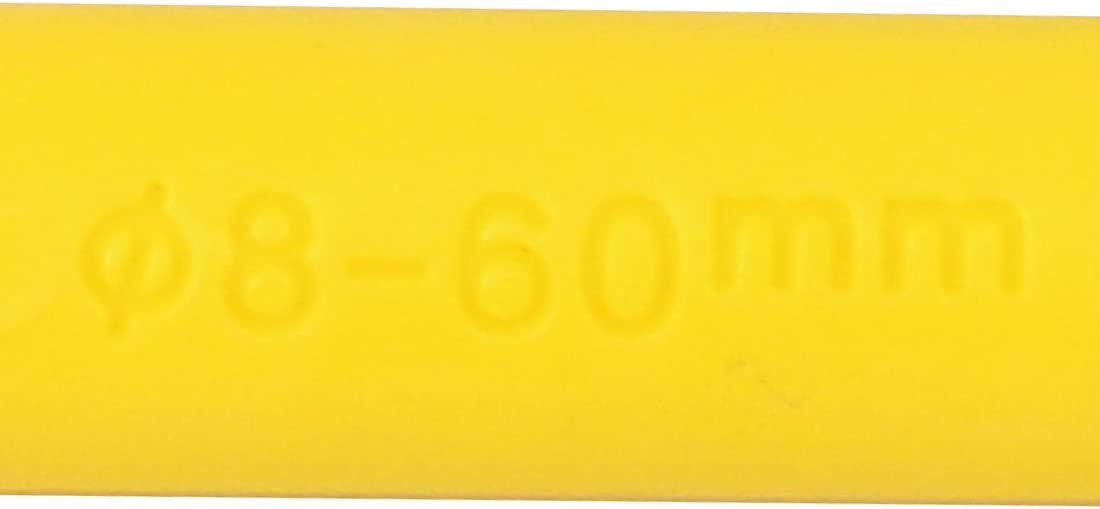 Aexit 8mmx60mm Plastic Screws /& Bolts Expansion Pipe Wall Anchor Screw Expansion Bolts Yellow 50pcs