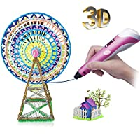3D Pen for Kids Newest 3D Printing Pen, Portable 3D Printer Pen with LED Display, Low-Temperature, Include 1.75mm PLA ABS Filament, Creative Drawing Pen for Kids