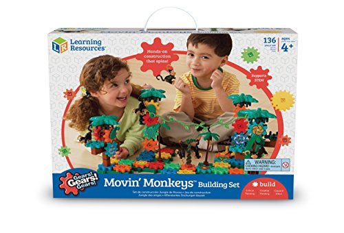 science toys for girls Learning Resources Gears! Gears! Gears! Movin' Monkeys Building Set, 136 Pieces