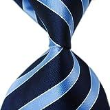 MENDENG New Men's Striped Silk Tie Business Wedding Necktie